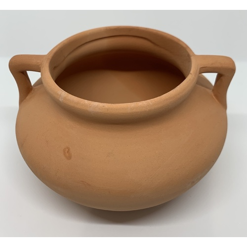 Bare Terracotta Urn with Handle | Small | Urn Diameter of 7cm & Length of 8cm