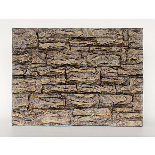 Terrarium Backing Board | Light Brown Cracked Brick | Vivarium Decorative Background Board | NFF-41-A