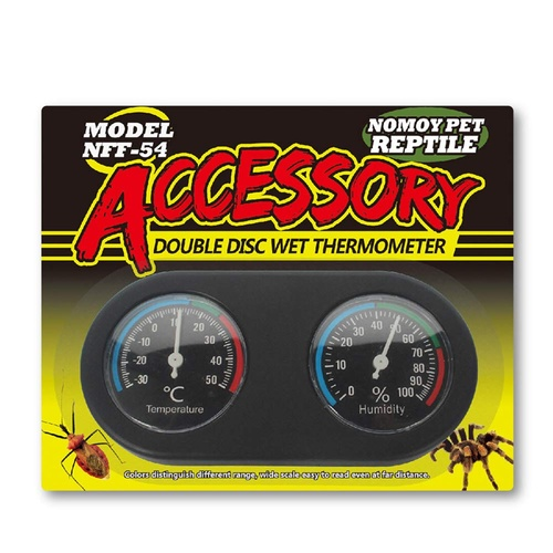 Analog Wet Thermometer & Hygrometer Combination Gauges | Double Dial